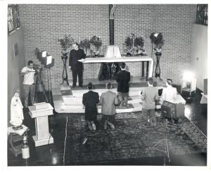 "Shooting the ""Habit"" scene, 1956"